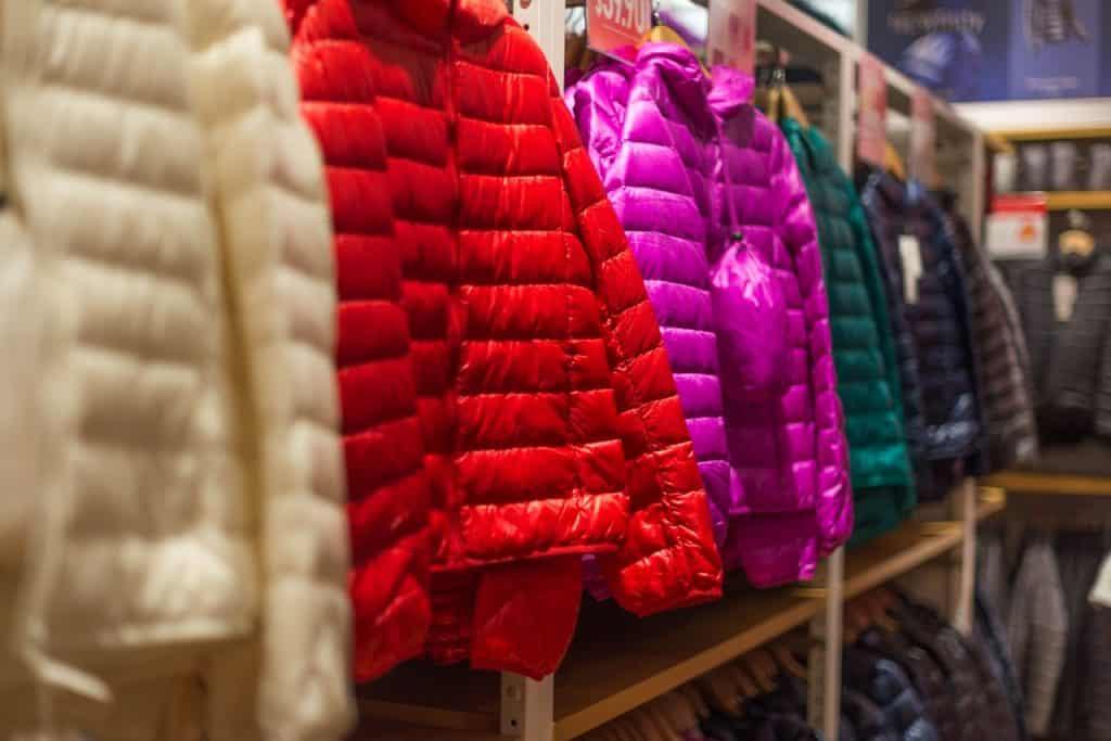 Les doudounes colorées
