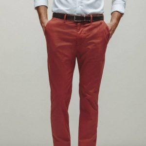 Pantalon chino coupe droite coton