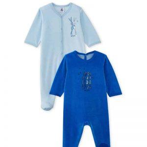 Lot de 2 dors bien bébé bleu